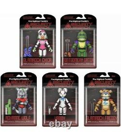 Funko Five Nights At Freddy's Security Breach Action Figure Set Fnaf Brand New