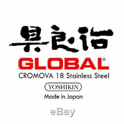 Global Hiro 7 Pièces Bloc Couteaux Noir, Japonais En Acier Inoxydable (rrp 955 $)
