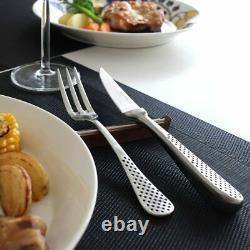 Global Steak Knife Fork Gtj-04 4 Ensemble Acier Inoxydable De Haute Qualité Made In Japan