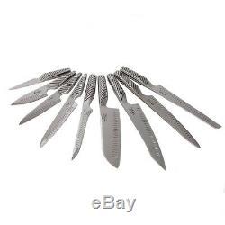 Gotham Steel Cut Pro En Acier Inoxydable Super Set De Sharp 10 Piece Couteau Avec Bloc En Bois