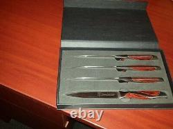 Hammer Stahl 4 Pc Steak Knife Set. 100% Genuine! Grande Nouvelle En Emballage Original