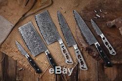 Japonais Katsura Aus 10 Damas En Acier 67 Jeu De Layers Couteau De Chef, 7pcs-no Logo