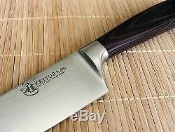 Japonais Katsura Damas Chef Cuisinier Jeu De Couteaux En Vg-10 67 Couches 4 Pcs