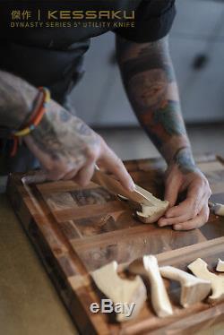 Kessaku 4 Set Couteau Dynasty Série Allemande Haute Teneur En Carbone Acier- Poignées G10