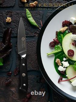 Kessaku 8 Chef+ 8 Pain + 3.5 Paring Knife Set Dynasty Series Acier Allemand