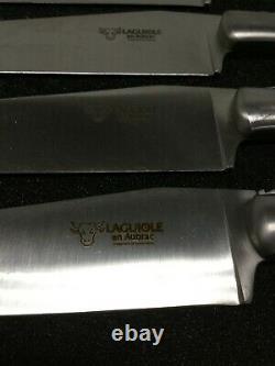 Laguiole En Aubrac Couteaux Steak Poignée En Bois D'olive Acier Inoxydable Ensemble De 4