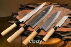 Lame Watanabe Couteau De Cuisine Fait À La Main 4 Points Ensemble Fait À La Main Japon