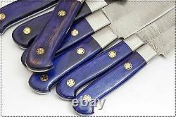 Le Damascus Douanier Blade 7 Pc. Kitchen Knives Set. Ze-1081-b-h 7c