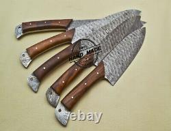 Lot De 5 Pcs Damas Kitchen Knife Handmade Damas Steel Kitchen Set 1914