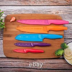 Luxe Fun Colors Couteau Premium Set Haute Carbone Acier Inoxydable 10 Pièces