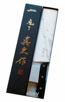 Mac Knife Th-80 Série Hollow Edge Chef's Knife 8 Inch Blade, Wood Handle Silver