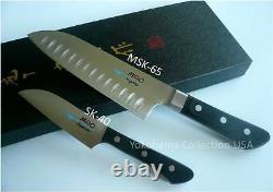 Mac Ms-46 Pro Series 2pcs Set Santoku Knife Msk-65 Sk-40/molybdenum Acier Argenté