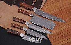 Main Forge Damas Acier Couteaux De Cuisine Couteau De Chef Set Withwood & Steel Bolster