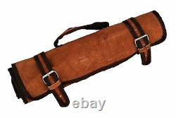 Main Forgée Damascus Steel Chef Knife Kitchen Set With Wood Handle= Roll Bag