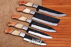 Main Forgée High Carbon Steel Chef Knives Set Kitchen Knife Set /bone & Wood