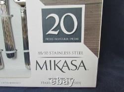 Mikasa Campagne Italienne 18/10 Acier Inoxydable 20pc. Ensemble De Couverts