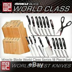 Miracle Blade Series World Class 18 Piece Ensemble Comprenant Bloc Couteaux