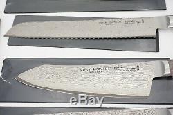 New $ 2,5 Mille Miyabi Couteau Noir Set 10 Pièces Damas
