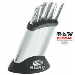 New Global Couteaux Couteau Synergy Block Set Japonais En Acier Inoxydable