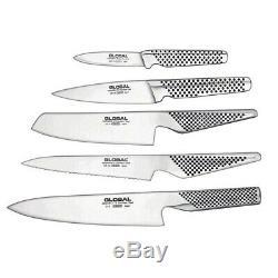New Global Katana Couteau En Acier Inoxydable Bloc Set Couteaux Chef Cuisinier Utilitaire P