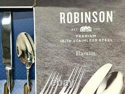 Nib Robinson Premium 18/10 Hamlin En Acier Inoxydable 65-piece Set Flatware