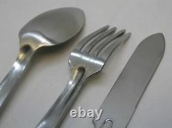 Nouveau Usgi Mess Kit Silverware Set Spoon Couteau Fourche Utensiles En Acier Inoxydable