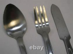 Nouveau Usgi Mess Kit Silverware Set Spoon Knife Fork Ustensils Stainless Steel