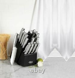 Oster Baldwyn 22 Piece Cutlery Block Set Kitchen Couteaux De Coutellerie En Acier Inoxydable