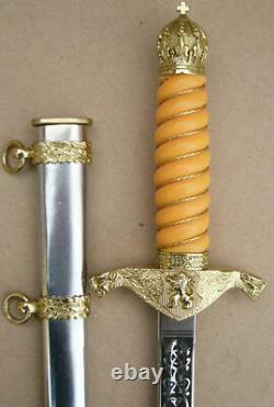 Parfait Officier D'infanterie Bulgare Parade Dagger Set 2003 Dirk, Lame, Couteau Nouveau
