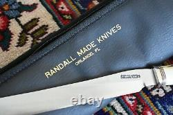 Randall Made Couteau Couteau Modèle 6-9 Ensemble De Sculpture Avec Fork Steel Sheath Case Stag