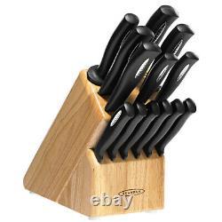 Scanpan 14pc Microsharp Knife Block Set 14 Piece Knives Sharpening Steel