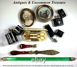 Sceau De Cire, Couteau De Papier Ou Ouvre-lettres, Vermeil Blade, Agate Hndl