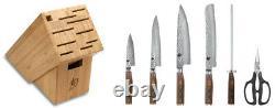 Set De Couteau De Bloc Essentiel De Shun Premier 7 Pièces Tdms0700 Nouveau Auther