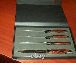 Set Of 9 Series Chef De Cuisine Couteaux Marteau Stahl. 100% Authentique! Tout Neuf