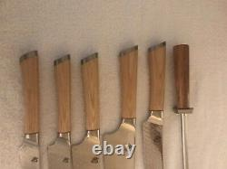 Shun Hikari Set De Couteau 6 Pièces Shun Dual Core Acier Damas
