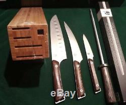 Shun Swts0510 Kanso De 5 Pièces Couteau De Cuisine Larder Santoku Filet Fusil D'affûtage
