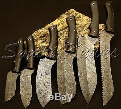 Smart Couteaux A La Main En Acier Damas De Six Pc Set Couteau Cuisine Couteau Chef