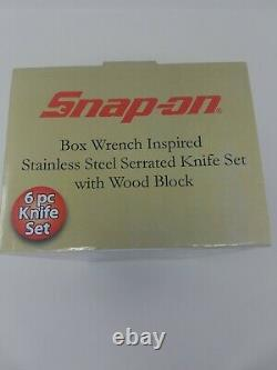 Snap-on Box Wrench Inspired Stainless Steel 6pc Knife Set With Wood Block Ssx2814