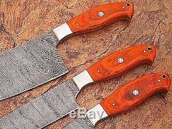 Sur Mesure Damas Blade Couteau De Cuisine 3 Pc Set Dp-1047-3