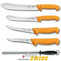 Swibo 5 Piece Butcher Dépecer Désosser S / Acier 5pc Ensemble De Couteaux Kit