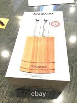 Tout Neuf Snap-on Tools En Acier Inoxydable 6 Pc Box Clé Poignée Couteau À Steak
