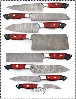 Ud Couteaux 8 Pièces À La Main De Damas En Acier Couteau De Chef De Cuisine Set Ud-700