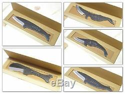 Utilitaire Baleine Chef 5 Ensemble De Couteaux En Acier Au Carbone Fait Haut Au Japon Kujira