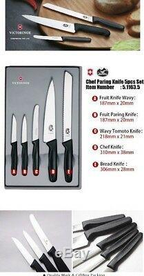 Victorinox Swiss Army Allemagne Steel Chef De Sculpture Couteau De Set 5.1163.5