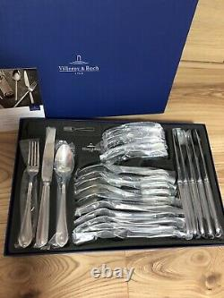 Villeroy & Boch Cutlery Set 24 Pieces Cutlery Set Silver Giftboxed Brand New
