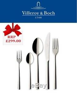 Villeroy & Boch Piemont 30 Piece Couverts Coffret, Qualité En Acier Inoxydable 18/10
