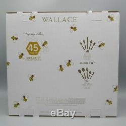 Wallace Napoleon Bee Or Accent En Acier Inoxydable 18/10 45pc Couverts