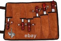 Wp-1071 Custom Handmade Damascus Steel Splendid Kitchen Set Knives Lots Of 6