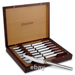 Wusthof 9468 Couteau En Acier Inoxydable 8 Pièces Avec Boîte Cadeau En Bois