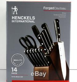 Zwilling J A Henckels Forge Couteau Couverts Acier Allemand 14 Pc Bloc De Couteaux